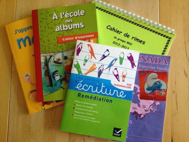 Les livres de cours d'Emma